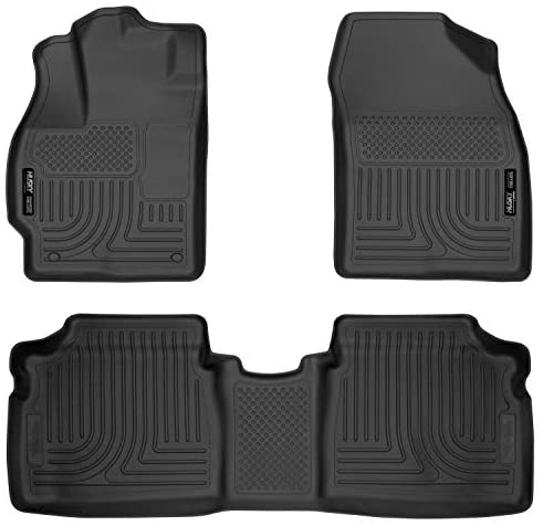 Husky Liners 98921 Fits 2012-14 Toyota Prius Two/Three/Four/Five Weatherbeater Front & 2nd Seat Floor Mats , Black