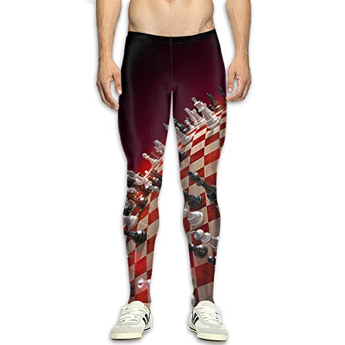 A World of Chess Game Mens 3D Casual Active Sports Joggers Pants Trousers Sweatpants White for $<!--$29.99-->