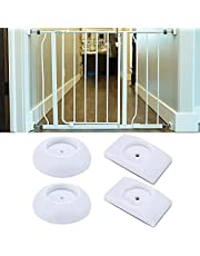 YiYLunneo 4 Pack Baby Gate Wall Protector Protect Walls & Doorways from Baby or Pet Gates for Child,Pet,Stair,Safety Pressure Mounted Gate