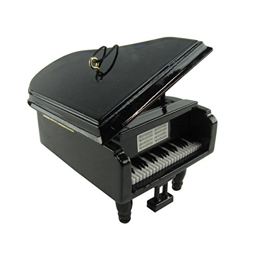 TreasureGurus, LLC Miniature Baby Grand Piano Realistic Musical Instrument Tree Ornament