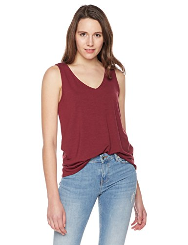 Lace Up Back Top (Something for Everyone Women's V-Neck Top With Lace-Up Back Large Marion Berry)