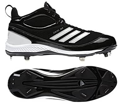 ADIDAS EXCEL 365 Baseball Cleats G21686 US Mens Size 8 BLACK & WHITE