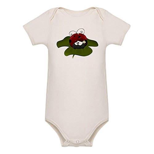truly-teague-organic-baby-bodysuit-cute-little-lady-bug-sitting-on-a-clover-3-to-6-months