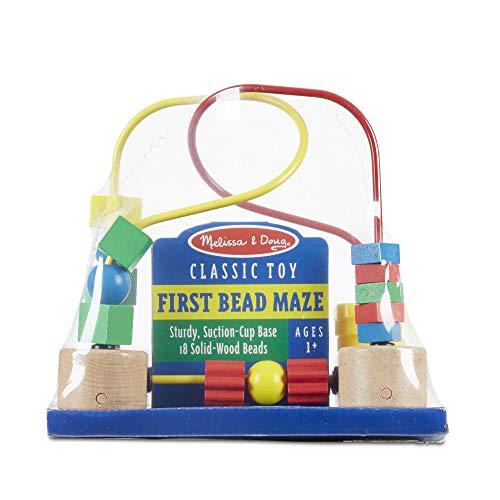 Melissa & Doug First Bead Maze (Juguetes de desarrollo, juguetes educativos de madera, artesanía de calidad y construcción robusta)