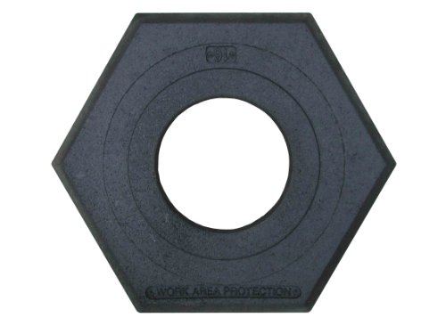 Work Area Protection CB-16 Rubber Channelizer Cone Base, 2.4'' Height, 16 lbs by Work Area Protection