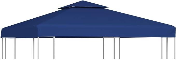 vidaXL Toldo de Cenador de Repuesto de Tela Azul Oscuro 3x3 m ...