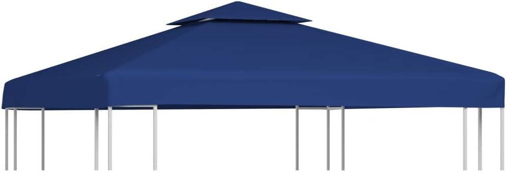 vidaXL Toldo de Cenador de Repuesto de Tela Azul Oscuro 3x3 m Techo Pérgola: Amazon.es: Hogar