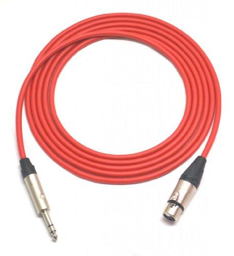 20 ft Canare Quad Balanced Patch Cable Red Neutrik XLR Female - 1/4