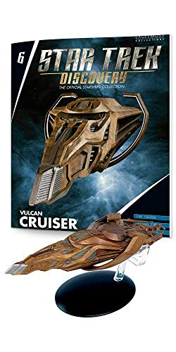 Vulcan Collection - Eaglemoss Star Trek Discovery The Official Starships Collection #6: Vulcan Cruiser Ship Replica, Multicolor SEP182351