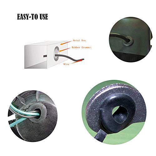 Insulated for Electric Equipment Box for Wire Gasket Rubber Grommet Firewall Hole Plug Wire Grommet