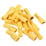 Water & Wood 100pcs Female Spade Insulated Electrical Crimp Wire Connector Terminal 4.0-6.0mm??
