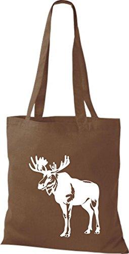 Pochette Tissu En Karibus Animaux Elk Moyen Marron Élan Shirtstown fdCqWC