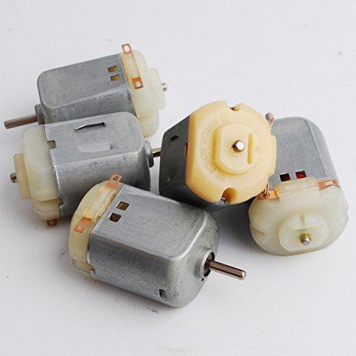 NW 5pcs 6V 7000rpm 12v14000rpm Standard 130 motor Green Micro DC motor