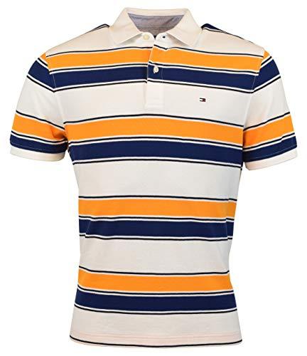 93c41d125 Tommy Hilfiger Mens Polo Shirt Custom Fit Interlock Top Pocket Flag Logo  Casual Clothing
