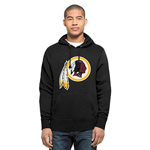 NFL Washington Redskins Men's '47 Headline Pullover Hoodie, Small, Logo Jet Black