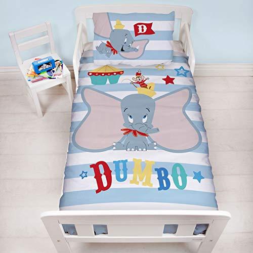 - Dumbo Circus UK Junior/US Toddler Duvet Cover and Pillowcase Set