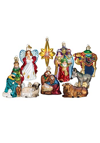 Old World Christmas 9-Piece Nativity Ornament Collection Standard by Old World Christmas (Image #1)