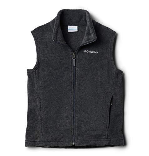 Columbia Boys' Toddler Steens Mt Fleece Vest, Charcoal Heather, 3T (3t Vest Boy)