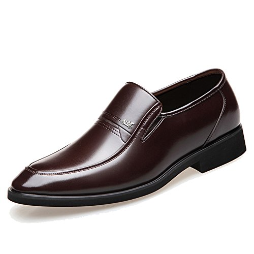 DeLamode Men Old People Leather Shoes Business Foot Sapatos Father Gifts Brown-38 by DeLamode (Image #1)