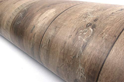 Wood Panel Interior Film Vinyl Self Adhesive Peel-Stick Removable (Brown VL7707(2 Pack)) Brown Wood Panel Wallpaper