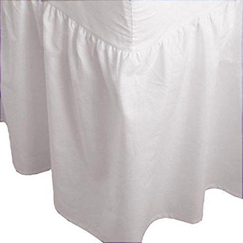 ARLINENS Unifarben Spannbetttuch, aus Polycotton, Bettvolant, in folgenden Größen und Farben erhältlich, Polycotton, weiß, Super King
