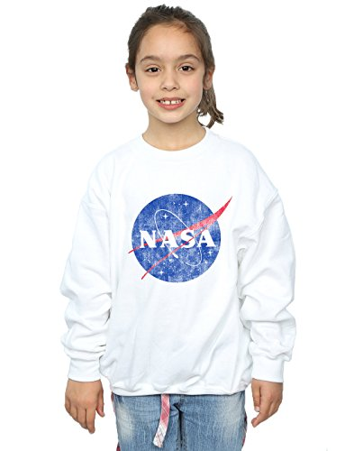 Fille Sweat Distressed Insignia Logo Cult Classic Nasa Absolute shirt Blanc 1vpE0