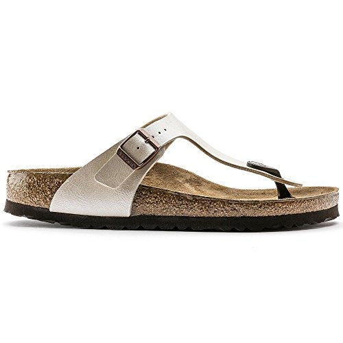 Birkenstock BIRK-943873-Wht NARROW FIT-38 M US Gizeh White by Birkenstock (Image #5)