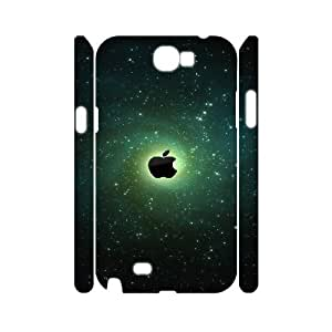 3D Samsung Galaxy Note 2 Cases Green Apple Galaxy, Samsung Galaxy Note 2 Cases Galaxy, [White]