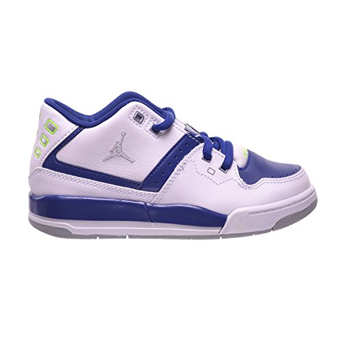 Jordan Flight 23 BP Preschool Little Kids Shoes White/Grey-Insignia Blue/Ghost Green 317822-118 (11 M US)