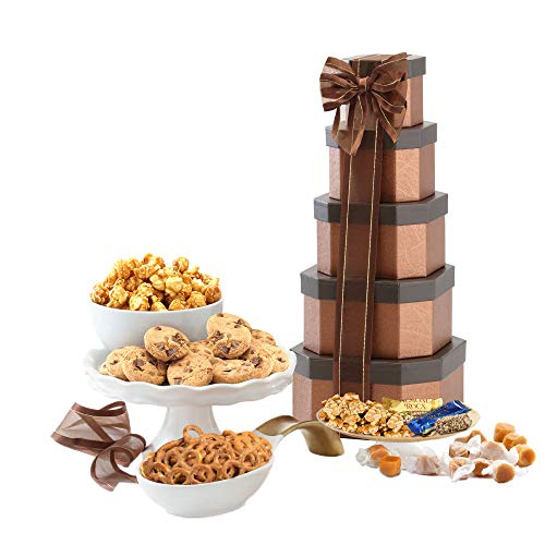 Chocolate Get Well Fruit Basket - Gift Tower of Sweets. Perfect for All Occasions including Birthday, Sympathy, Housewarming, Retirement, Get Well, Thank You Gifts