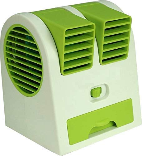 realpixel Small USB and Batteries air Conditioner Water Cooler Portable Dual bladeless Mini Fan  Multi Color