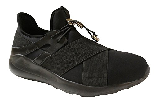 Javi Mens Brandy Fashion Sneaker Noir