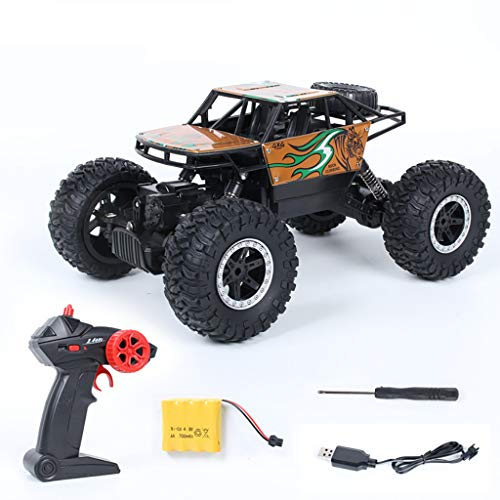 LLJEkieee Off-Road Remote Control car RC Car - 1:16 2.4GHZ 4WD Radio Remote Control ATV ,Buggy Giant Truck with Oversized Tires 4-Wheel-Drive System ,Double Powerful Motors (Gold)