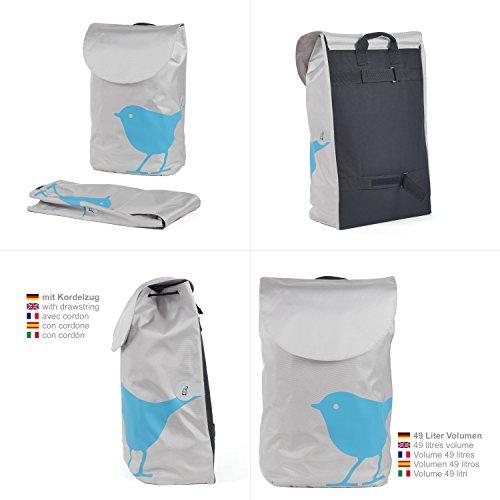 Original Andersen Unus Shopper mit Tasche Bird türkis