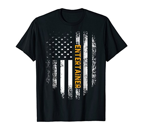 Vintage American USA Flag Entertainer T-Shirt Cool Gift (Entertainer Mens T-shirt)