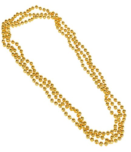 - Play Kreative Metallic Bead Necklaces -12 pk TM (Yellow)