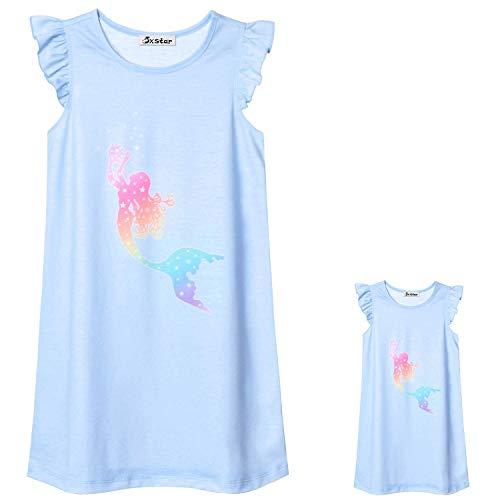 Mermaid Nightgown Matching Girls & Dolls 18 inch Pajamas Nightdress Sleepwear