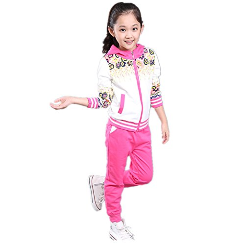 ftsucq-girls-floral-printed-striped-sweatsuit-sports-two-pieces-setrosered-110