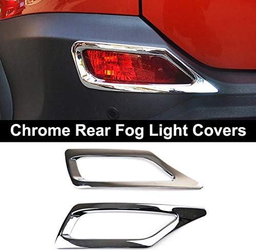 Chrome Front foglight rear Fog Light cover trim For TOYOTA RAV4 2013-2015