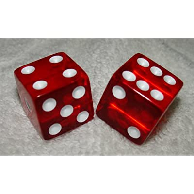 "Large 3/4"" Red Transparent Dice Pair: Toys & Games"