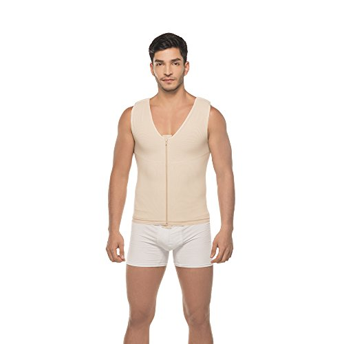 Annette 10596 Mens Compression Vest-Beige-XL