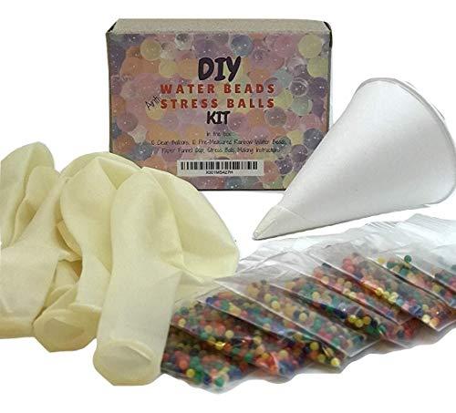 - Water Beads Stress Ball Making DIY Kit-Makes 10 Stress Balls!