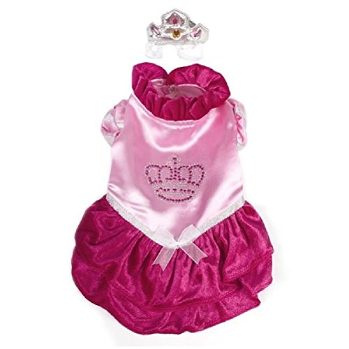 Dog Costume-Velvet Princess Red Costumes-Dogs As Princesses by Defonia Petsupplies