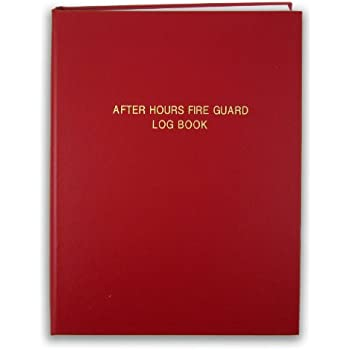 Amazon bookfactory fire department log book journal bookfactory after hours fire guard log book 168 pages red cover smyth sewn hardbound 8 12 x 11 log 168 7cs lr fire guard fandeluxe Gallery