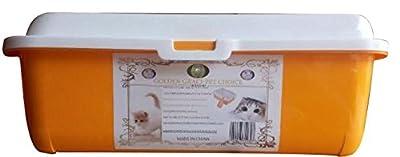 Golden Grace Pets Choice Litter Box Medium Cat Tray. Framed Litter Pan provided Added Height and Reduced Litter Spills