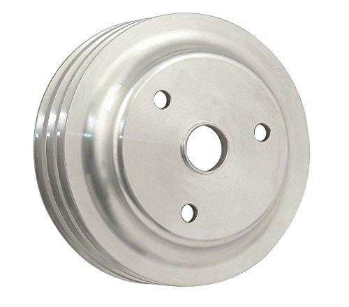 (Mr. Gasket 5318 Billet Style Aluminum Crankshaft Pulley; Triple Groove; Long Water)