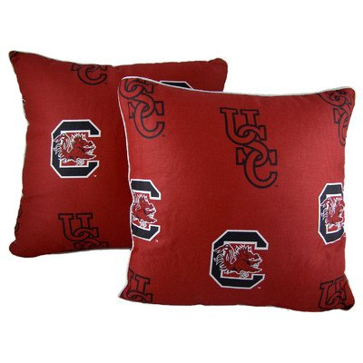 College Covers South Carolina Gamecocks Decorative Pillow, 16'' x 16'', Includes 2 Decorative Pillows