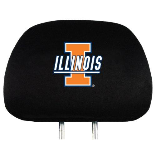 - NCAA Illinois Illini Head Rest Cover, 2-Pack
