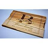 Solid Maple Cutting Board Custom Engraved Design 17