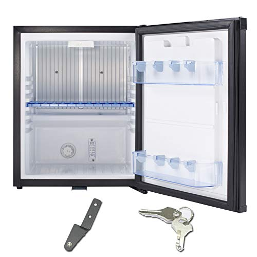 SMETA Silent Mini Fridge Electric 110v Locking Office Dorm Refrigerator,1.0 cu...